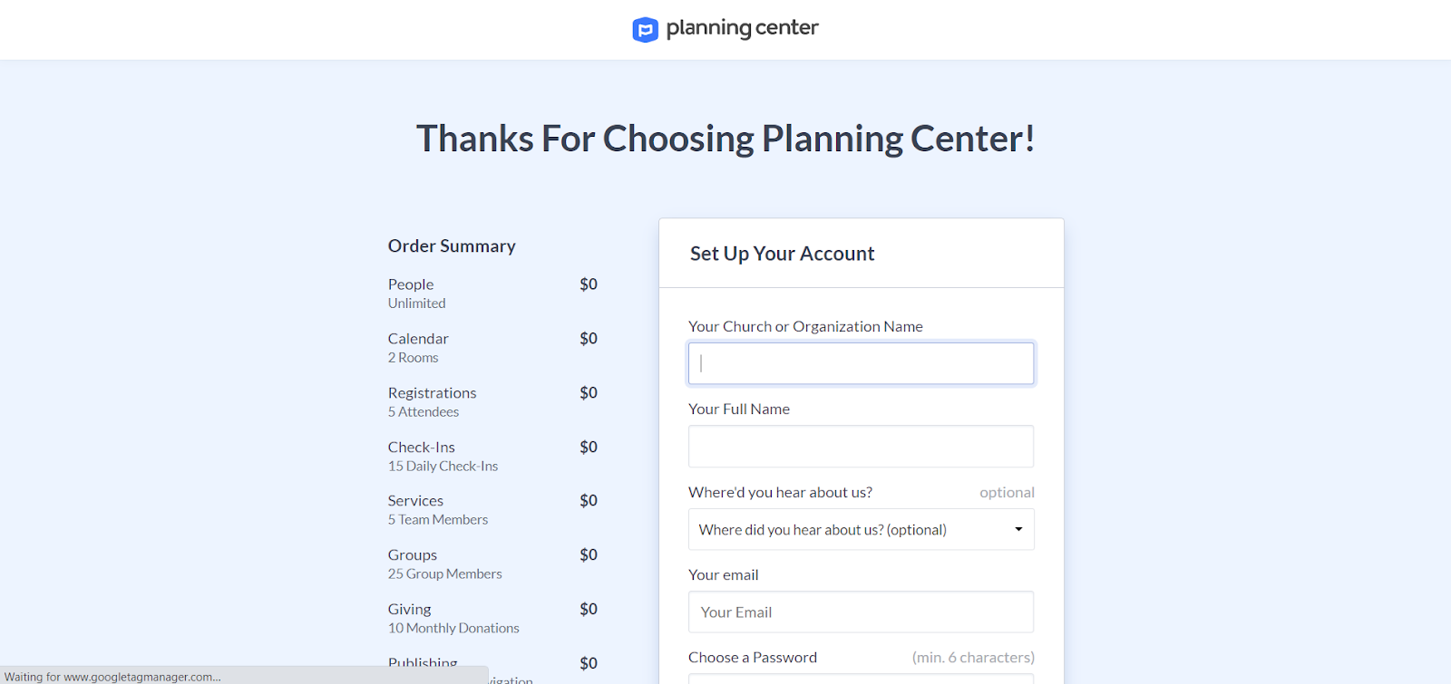 Login-planningcenteronline