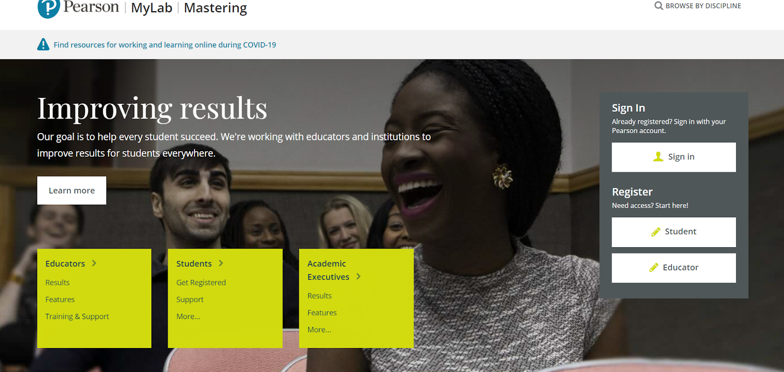 PearsonMyLabAndMastering – Improved Learning Experience