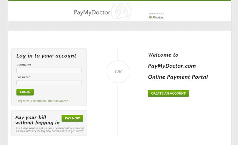 paymydoctor-login